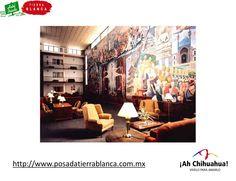 """En el HOTEL POSADA TIERRA BLANCA En nuestras instalaciones contamos con un hermoso mural del norte de México llamado """"La profecía de la raza cósmica"""" obra del muralista de origen chihuahuense Aarón Piña Mora, que se inspiró en el filósofo oriundo de Oaxaca José Vasconcelos. Venga a disfrutar del estado más grande de México. Tel. (614) 415-0000 con 7 Líneas • Fax (614) 416-0063 http://www.posadatierrablanca.com.mx/  #ah-chihuahua"""