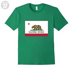 California Bear T-Shirt Republic Tee - Male 3XL - Kelly Green (*Amazon Partner-Link)