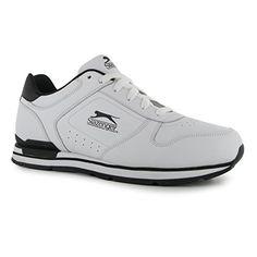 Slazenger Classic Herren Turnschuhe Leder Sneaker Sport Schuhe Schnuerschuhe Weiß/Schwarz 7 (41) - http://on-line-kaufen.de/slazenger/7-41-slazenger-classic-herren-turnschuhe-leder-7