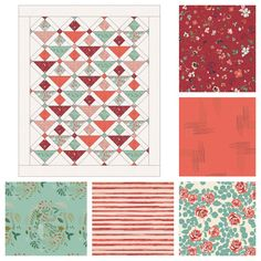 5 Fat Quarter Fun Quilt pattern in Woodland Fusion - Bundle or quilt kit available now!  #mayflowersquilt