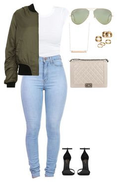 """""""Untitled #137"""" by amoney-1 ❤ liked on Polyvore featuring Monique Péan, Ray-Ban, Chanel, Topshop, Apt. 9 and Yves Saint Laurent"""
