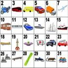 32 transportation words on a large poster.  These posters makes teaching vocabulary easier. The numbers on the poster lend to fun activities.  Grea...