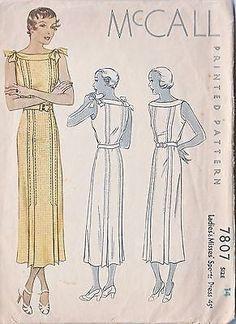 "Very Stylish Sleeveless Tucked ""Sports"" Dress Misses' Vintage Pattern 1930s Fashion, Vintage Fashion, Victorian Fashion, Dress Fashion, Fashion Fashion, Vintage Sewing Patterns, Clothing Patterns, Vintage Dresses, Vintage Outfits"