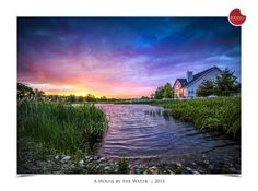 This is another unforgettable sunset at Fairways at Forsgate. A charming house by the water.