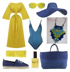 """Untitled #1110"" by harikleiatsirka on Polyvore featuring N-DUO, Sunday Somewhere, Morgan Lane, Far + Wide Collective, Lauren B. Beauty, Roger Vivier and Sun of a Beach"