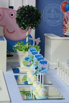"GEORGE PIG : "" Birthday 4th - Benjamín"" Birthday Party Ideas 