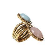 Oscar de la Renta Two Stone Ring, $195