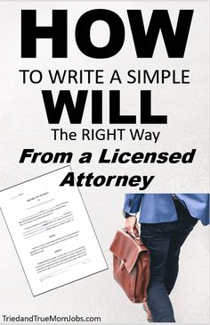 How to Write a Will the Right Way in 2020 from a Licensed Attorney. Funeral Planning Checklist, Family Planning, Ways To Save Money, Money Tips, Money Hacks, Family Emergency Binder, When Someone Dies, Will And Testament, Personal Finance