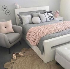 21 Stunning Gray and Silver Bedroom Ideas Gray and silver bedroom ideas . - 21 Stunning Gray and Silver Bedroom Ideas Gray and silver bedroom ideas 11 This image has get 210 re - Bedroom Ideas For Teen Girls Small, Cute Bedroom Ideas, Teenage Girl Bedrooms, Teen Rooms, Bedroom Themes, Bedroom Inspiration, Teenage Beds, Teenage Girl Bedroom Designs, Girly Girls