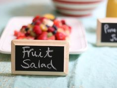 Diy: Chalkboard Buffet Labels