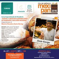 Éste es el curso de Xavi Barriga que necesitas si te interesas en la panadería y la bollería. Para mayores informes, escribe al correo cursos@anpropan.org.mx #Mexipan #Mexipan2016 #Panadería #Repostería #Chef