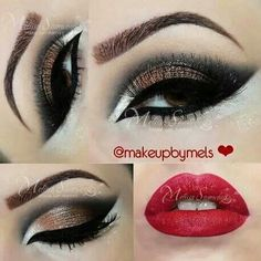 "Acquire excellent pointers on ""makeup looks dramatic"". They are readily available for you on our site. Show Makeup, Eye Makeup Tips, Party Makeup, Makeup Tools, Hair Makeup, Makeup Ideas, Glam Makeup Look, Glamour Makeup, Love Makeup"
