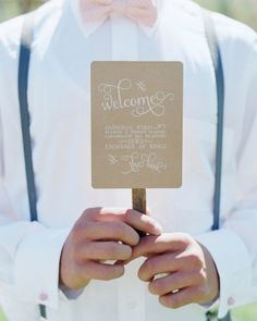 Ceremony program fans to pull double duty: inform guests and keep them cool at an outdoor ceremony