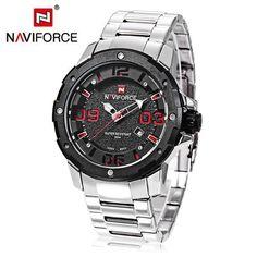 NAVIFORCE 9078 Watches Men Top Luxury Brand Military Sports Watches Quartz Wristwatches Clock Luminous Men's Watch Reloj Hombre