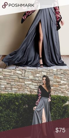 HALLE Maxi Skirt Luxurious satin maxi skirt  NO TRADE, PRICE FIRM Bellanblue Skirts Maxi
