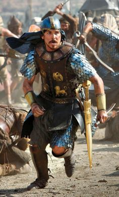 Christian Bale as Moses in Ridley Scott's upcoming movie Exodus.