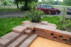 Playful landscaping; one of three projects constructed under the PVI play framework