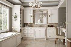 York Antique White - Cabinets - All Wood Kitchen Cabinets / Sales / Installation / Granite white kitchen cabinets ideas Kitchen Cabinet Kings, Rta Kitchen Cabinets, Bathroom Cabinets, Bathroom Vanities, White Bathroom, Kitchen Reno, Cupboard, Dream Bathrooms, Beautiful Bathrooms