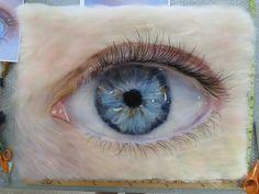 Through the Eye of a Child. Merino wool. Current work by Sara Smelt.