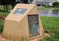 Torin Halsey/Times Record News   A plaque in Wood Park near Sikes Lake lists names of the victims of the April 10, 1979 tornado in Wichita F...