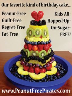 Healthy Fruit Birthday Cake