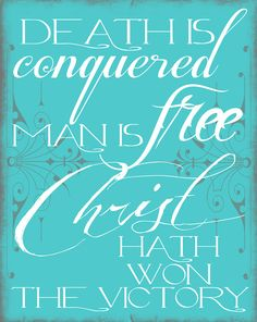 Death Is Conquered - free Easter printable in various colors