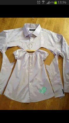 Sy kjole af skjorte