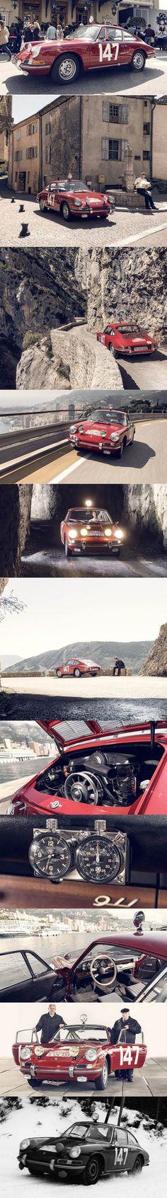1965 Porsche 911 S / Germany / winner Rally Monte Carlo / red / restored by Porsche Classic
