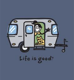 Although it's not a T@B, i always wear this Life is good TShirt when I'm Tabbing! The older T@Bs like mine are cousins with the Airstream after all! Both made by Dutchman.