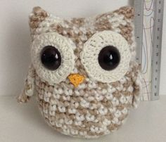 White & Tan Amigurumi Owl 12cm by JenizOwlzPlus on Etsy, $15.00