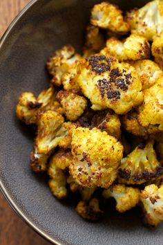 Curry Roasted Cauliflower    A Less Processed Life