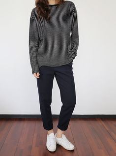 stripes and sneakers / casual
