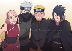 Boruto:Next Generation :Team 7 adult Anime Naruto, Naruto Shippuden Sasuke, Naruto And Sasuke, Boruto, Manga Anime, Kakashi Sensei, Sakura And Sasuke, Naruhina, Narusaku