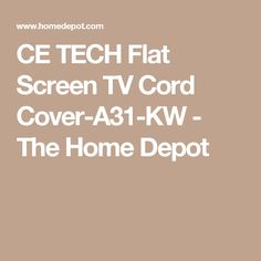 1000 ideas about tv cord cover on pinterest flat screen tvs hide tv cables and tv cable. Black Bedroom Furniture Sets. Home Design Ideas