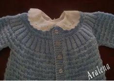 Hilos de Aralena: Saquito para bebé (1º medida)