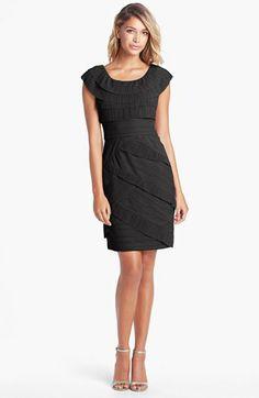 Maggy London Pleated Tier Mesh Sheath Dress | Nordstrom       MOG $158