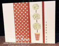 TeresasStampinSpot.com    Stampin Up  SU! Vertical Greetings stamp set