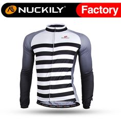 28.51$  Know more - http://ai7nw.worlditems.win/all/product.php?id=32789342221 - Nuckily Men's black & white stripe long sleeve bicycle shirts for cyclist   CJ123