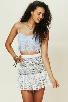We don't mind the heat – it's an excuse to wear summer's favorite material, crochet!
