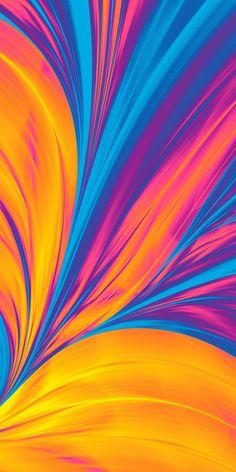 Colorful, Huawei Matebook, digital art, 1080x2160 wallpaper