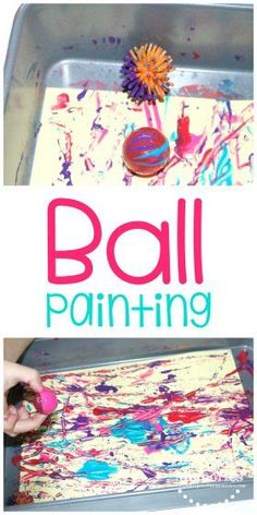 Quick & Easy Ball Painting Activity for Toddlers & Preschoolers