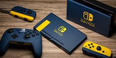 Create a custom Nintendo Switch console with exclusive color options from ColorWare! Liven up your boxy, imposing, black gaming system with our design studio. Video Game Rooms, Video Games, Playstation, Xbox 360, Carte Pokemon Rare, Ps Wallpaper, Objet Deco Design, Custom Consoles, Mundo Dos Games
