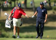 Phil and Bones at the Ryder Cup
