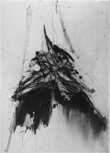 Rafael Canogar. Nazareno. 130x97cm. Mixta / tela. 1960. Col. Mambo Bologna
