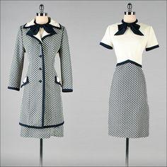 1960s wool dress & jacket set