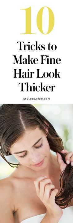 Hair Styles 2018 10 Tricks to Make Fine Hair Look Thicker—from shampoo and conditioner recommendations to velcro rollers, root lifters, and hairspray—here's how to fake thick luscious locks! Discovred by : Byrdie Beauty Pixie Cut, Get Thicker Hair, Thin Hair, Wavy Hair, Blonde Hair, Haircut Styles For Women, Hair Remedies, Grow Hair, Hair Looks