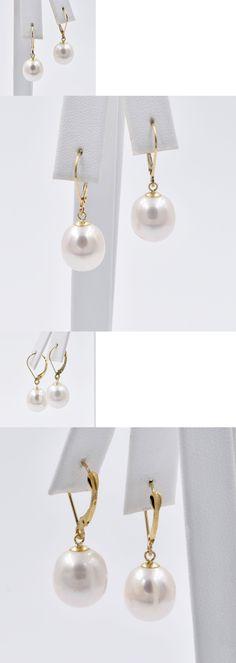 Pearl 14K Diamonique Pearl 7Mm Dangle Dq Earrings BUY IT
