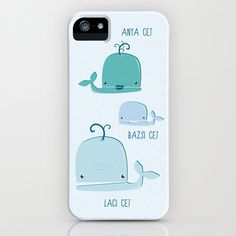 whale family iPhone & iPod Case by Horváth László - $35.00