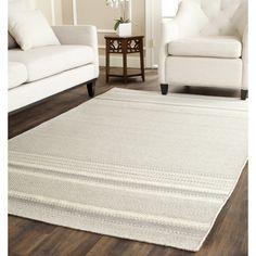 Safavieh Hand-woven Kilim Grey/ Ivory Wool Rug (8 x 10) | Overstock.com $470