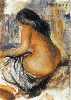 Bather from the Back. Private Collection - Pierre-Auguste Renoir